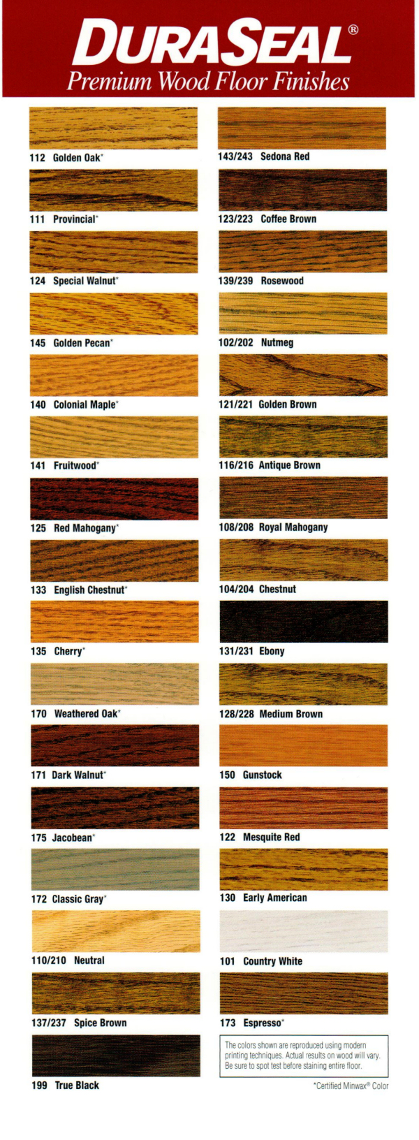 Wood Floor Stain Color Chart By Flanders Wood Floors 973 252 9051
